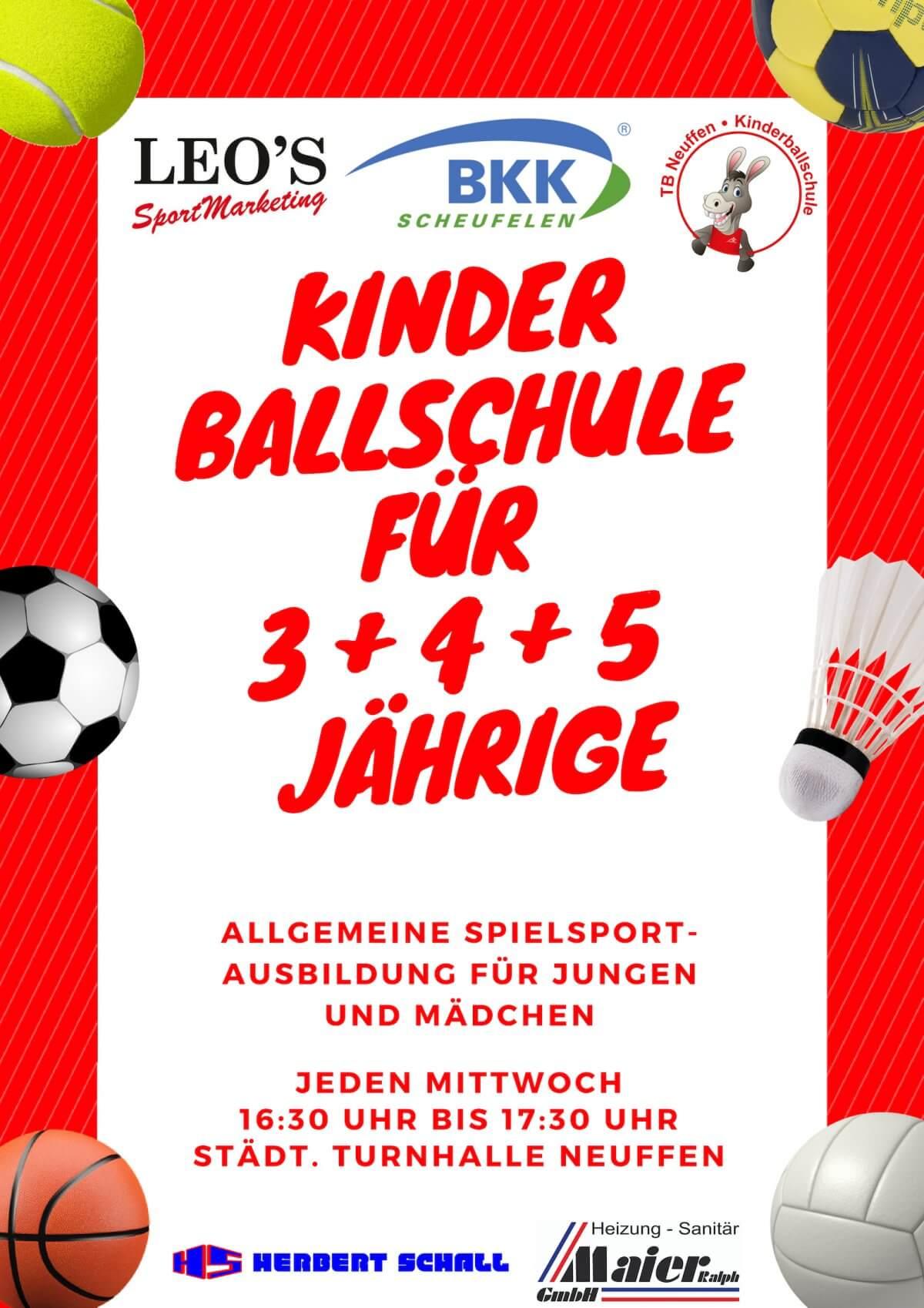 2019 02 14 Ballschule Plakat Inkl. Sponsoren