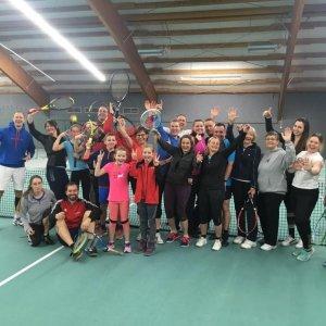 Gruppenbild Tennis 2. Schnupperstunde 25. Januar 2020