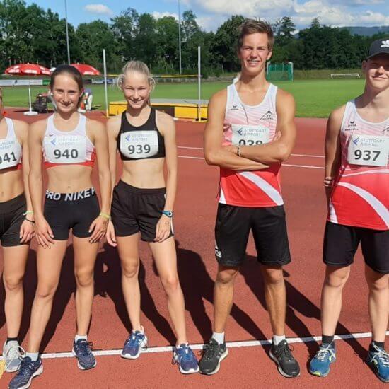 Das erfolgreiche Neuffener Team - Marcia, Nina, Luise, Tim und Rado