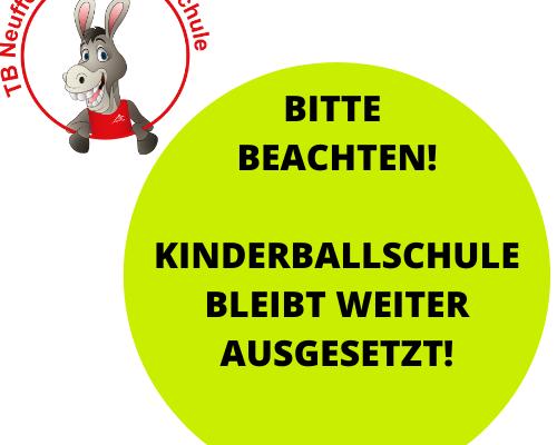 2020 08 30 Ballschule Bleibt Ausgesetzt
